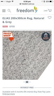 On trend grey freedom rug 2 m x 3 m