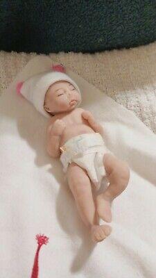 "PRECIOUS 3D FLOWER HAT FITS  9.5-10/"" REBORN OOAK BABY !"