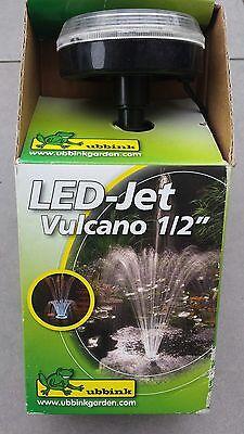 "Ubbink 1350200 LED-Jet Vulcano 1/2"" Düsenaufsatz mit LED-Leuchten"