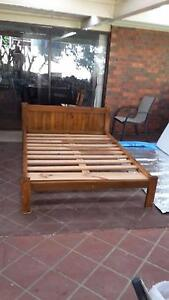 Double bed solid wood and ikea matress. Malfour . Hebersham Blacktown Area Preview