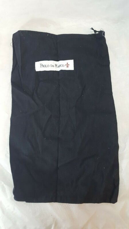 Paolo De Marco Black Drawstring Storage Bag For Dress Shoes