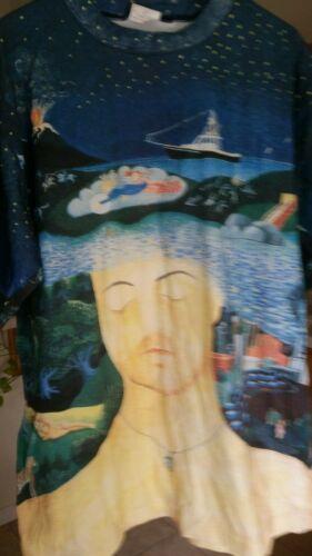 BILLY JOEL 1994 River of Dreams vintage licensed concert allover tour shirt XL