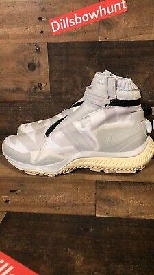 more photos 5d15a 06aae Nike Mens NikeLab Gyakusou Gaiter Boot White Pure Platinum AA0530 100 Size  7.5