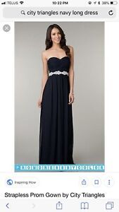 Formal navy dress - prom/bridesmaid (size 2-4)