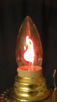 FLICKER FLAME CLEAR LAMP LIGHT BULB 3 watt  CA-10 STANDARD BASE FIRE 1500 HOURS](Flicker Bulb)