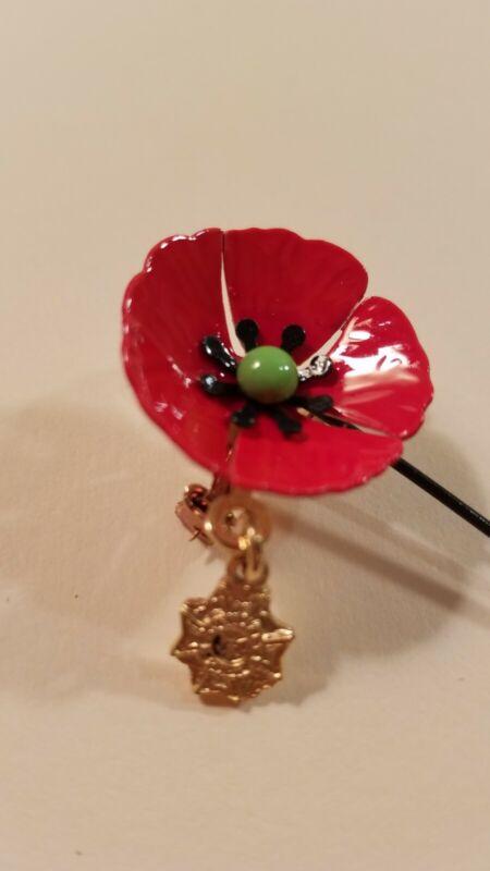 Vintage Poppy Pin Women