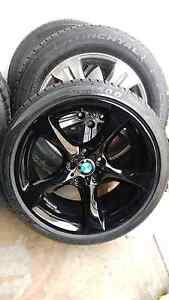 "4X BMW 3series genuine 19"" gloss black wheels& tyres South Granville Parramatta Area Preview"