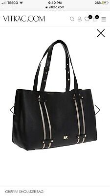 MICHAEL KORS GRIFFIN LARGE LEATHER TOTE BAG.