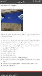 Floating beer pong raft wave pad tested to 200 pounds new