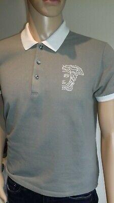 Large Grey Versace Polo Shirt