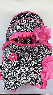 pink baby infant car seat carrier cover w ny yankees new mlb. Black Bedroom Furniture Sets. Home Design Ideas