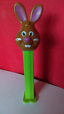 PEZ DISPENSER Brown Rabbit Design with Green Base and Feet (1998)
