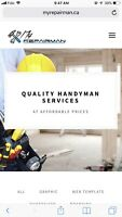 QUALITY HANDY MAN SERVICES 289 772 7822