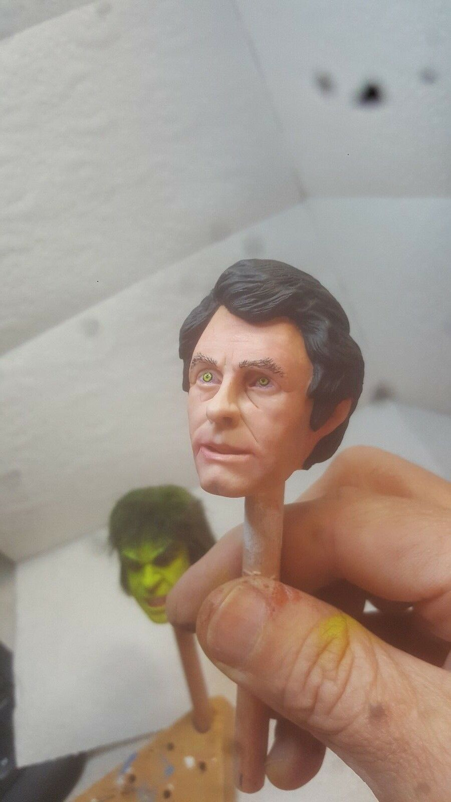 custom  bill Bixby David head for 12 inch figure