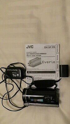 JVC GZ-HM960 HD Everio Camcorder 16GB Package extra battery and portable charger