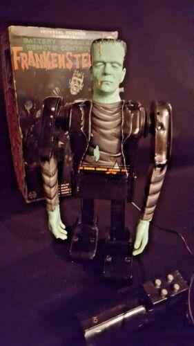 MARX FRANKENSTEIN 1960s BATTERY TIN ROBOT w/ORIG BOX- WORKING - SEE VIDEO!