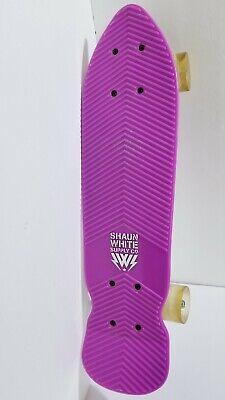 Vintage Shaun White Supply Co. Skateboard Penny Purple Board Short Cruiser