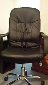 Leather look office chair Werrington Penrith Area Preview