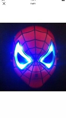 SPIDERMAN LED GLOWING RED MASK KIDS COSPLAY HOMECOMING PARTY  ❤️Holiday Gift!!! - Spiderman Masks