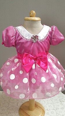 Authentic Disney Baby Minnie Mouse Costume Dress 12 - 18 months   - 18 Month Minnie Mouse Costume