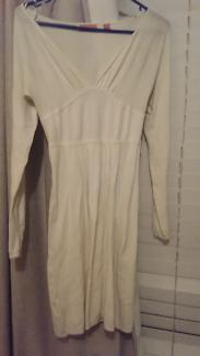 Wish White Women's Long Sleeve Dress