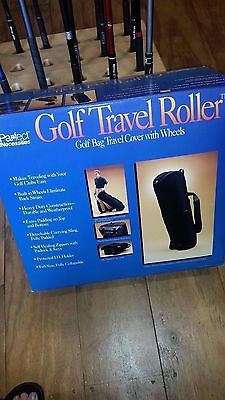New Par-fect Necessites Golf Travel Roller - Golf Bag Travel Cover with wheels ()