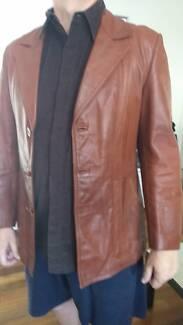 Mens Leather jacket Vintage 70s