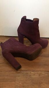 Nasty Gal and Jeffrey Campbell Purple Leather Bootie