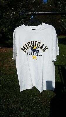 Vintage XL Michigan Wolverines Gear for sports shirt new NO tags  ()