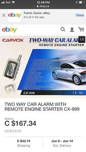 Two way car Alarm and remote start