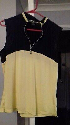 Jamie Sadock Sleeveless Top Yellow/Black Size Large