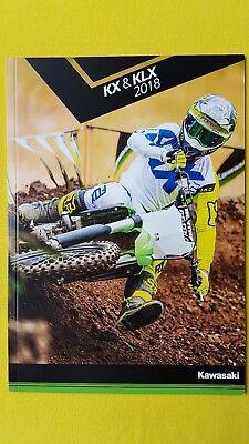 Kawasaki trials motorcycle brochure KX85 KX65 KX250F KLX110 KLX450R 2018 MINT