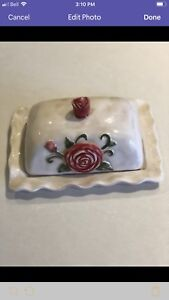 NEW Vintage Looking Ceramic Butter Dish
