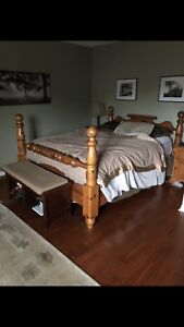 Solid wood pine bed frame only mattress not included