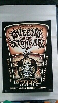 EMEK Queens Of The Stone Age Cramps LA HALLOWEEN Poster October 31, 2003 - Queens Of The Stone Age Halloween Poster