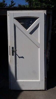 Holzhaustür Nebeneingangstür in Weiß gebraucht kaufen  Solingen