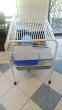 Small Animal Cage with Feeder & Hutch, $150 [RRP $350] Busby Liverpool Area Preview