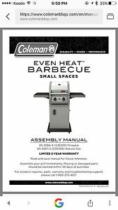 """Coleman """"small spaces""""  natural gas BBQ"""