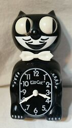 CLASSIC BLACK KIT-CAT KLOCK 15.5 MADE IN USA Cali. Clock Co. Official Clock