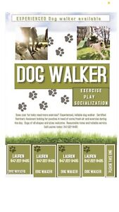 Dog walker looking for clients in the Barrie area