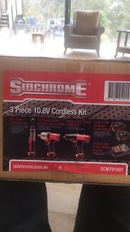 Sidchrome 10.8v Cordless 3 Pieces kit brand new