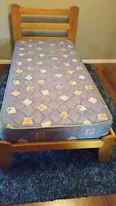 Timber Single Bed and Mattress Toowoomba Toowoomba City Preview