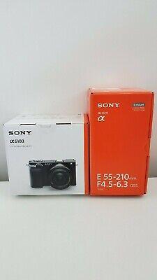 BNIB Sony Alpha a6100 Mirrorless Digital Camera w/ 16-50mm & 55-210mm Lenses
