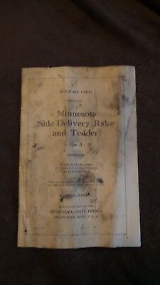 Vintage Rare Duplicate Part Minnesota Side Delivery Rake Minnesota State Prisons