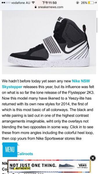 newest 995ae 01f28 NIKE NSW SKYSTEPPER – WHITE – BLACK size11.5( fits11-11.5)   Men s Shoes    Gumtree Australia Parramatta Area - Parramatta   1149199554