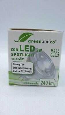 10 Stück LED Spot MR16 Halogenstrahler 3W 240lm warmweiß COB Strahler 38° 12V online kaufen