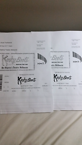2 TICKETS TO KINKY BOOTS MUSCIAL Berwick Casey Area Preview
