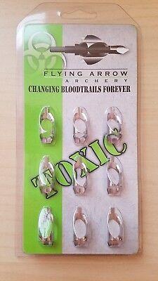 Flying Arrow Archery Toxic Replacement Blades - 100 (Flying Arrow Toxic Broadhead 3 Blade 100 Grain)