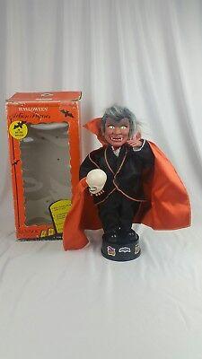 80's Original RENNOC Animated LITTLE PEOPLE HALLOWEEN DRACULA Vampire vintage - Halloween Animated Vampire
