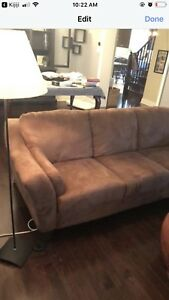 Gorgoeus lighter chocolate soft couch / sofa.  Mint condition.